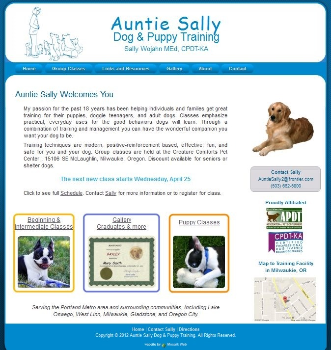 Aunti Sally Dog and Puppy Training