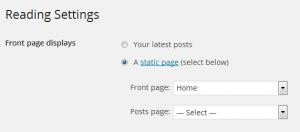 SettingsStaticHomePage