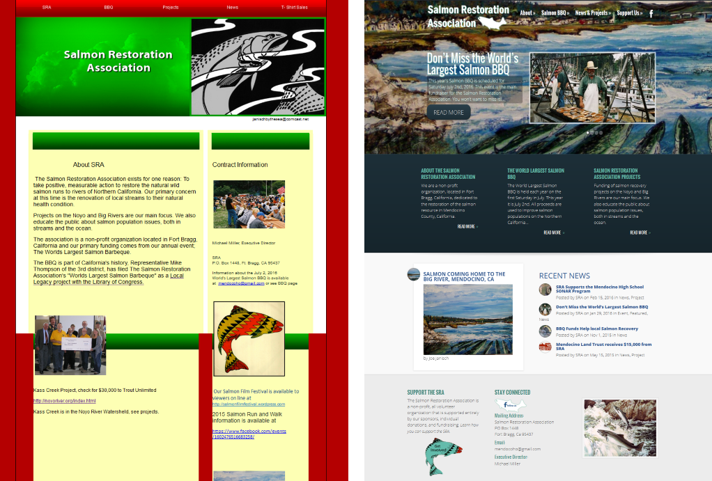 Website Redesign for the Salmon Restoration Association