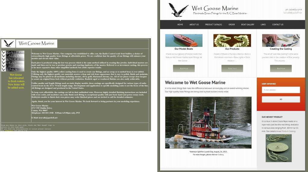 Website Redesign for WetGoose Marine