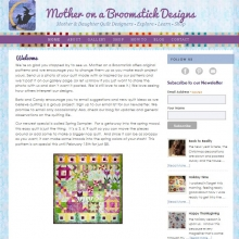 Mother on a Broomstick Quilt  Designs