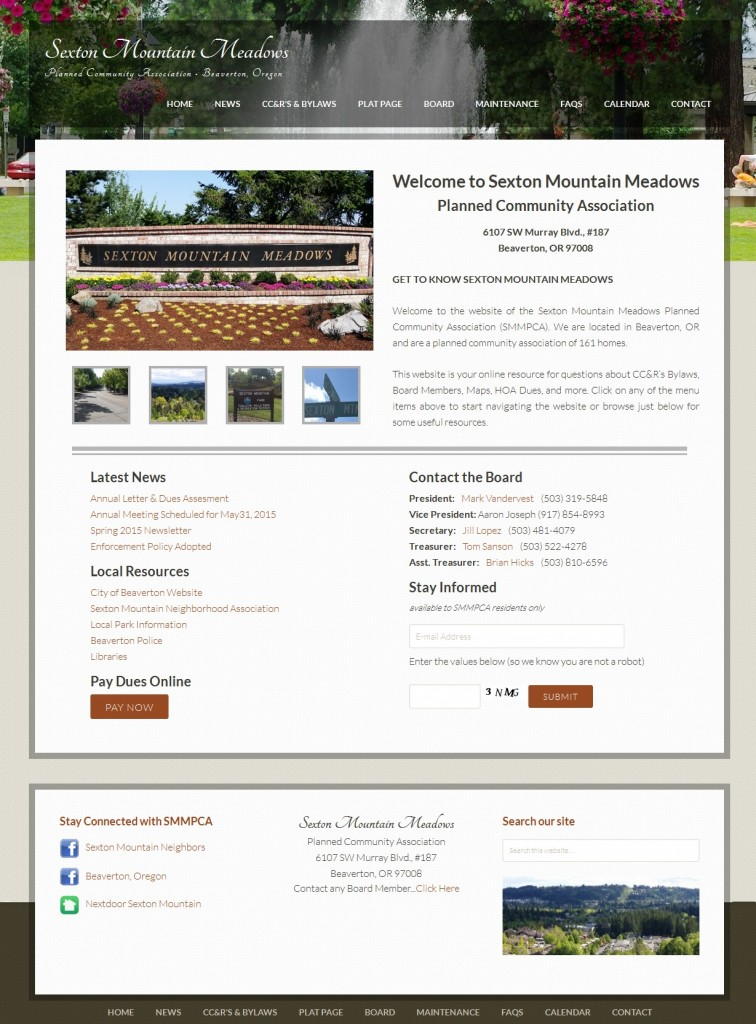 Sexton Mountain Meadows Planned Community Association