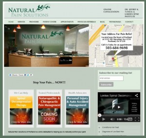 Natural Pain Solutions Original Website